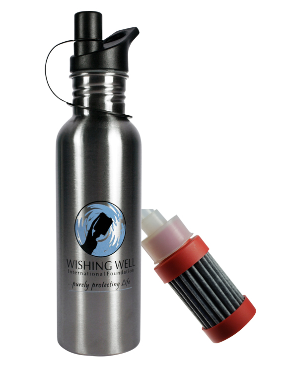 Wishing Well International Foundation WW 750 F Stainless Steel Sports Bottle with filter 750ml 01